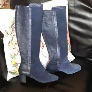 NEW Donald J Pliner suede and leather boots